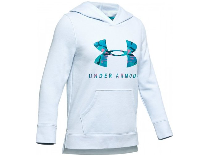 20190716160638 under armour girls rival print fill logo hoodie 1343622 460 max 1568730838