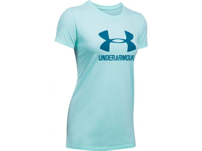 272229 damske tricko under armour sportstyle crew blue 53898