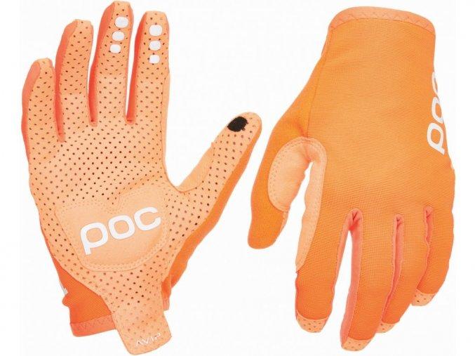 46772 rukavice poc avip glove long zink orange