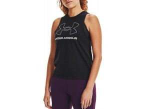 under armour live sportstyle graphic tank blk 334990 1356297 002
