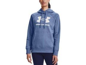 under armour rival fleece logo hoodie blu 336535 1356318 470