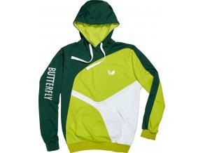Butterfly textil hoodie ryo grun