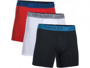 Pásnké boxerky Under Armour Charged Cotton 6inch 3pk