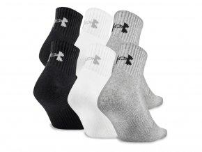 Pánské ponožky Under Armour Charged Cotton 2.0 Quarter Socks 6-Pack