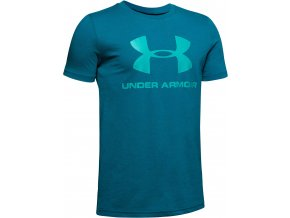under armour 1330893 417 sportstyle logo ss grn 0