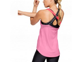 0014074 canotta da donna under armour heat gear armour wm double strap rosa chiaro