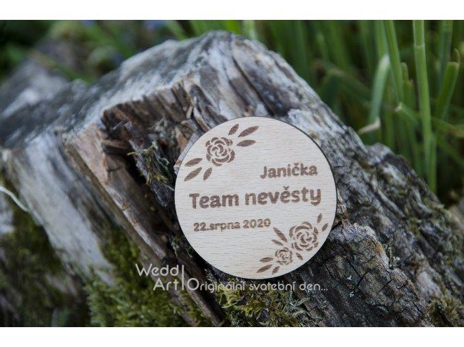 drevena placka rozlucka se svobodou team nevesty web