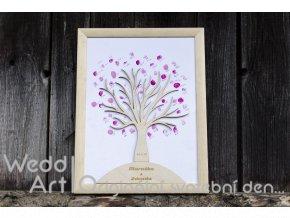 svatebni strom drevo otisk