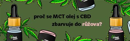 Proč se MCT olej s CBD zbarvuje do růžova?