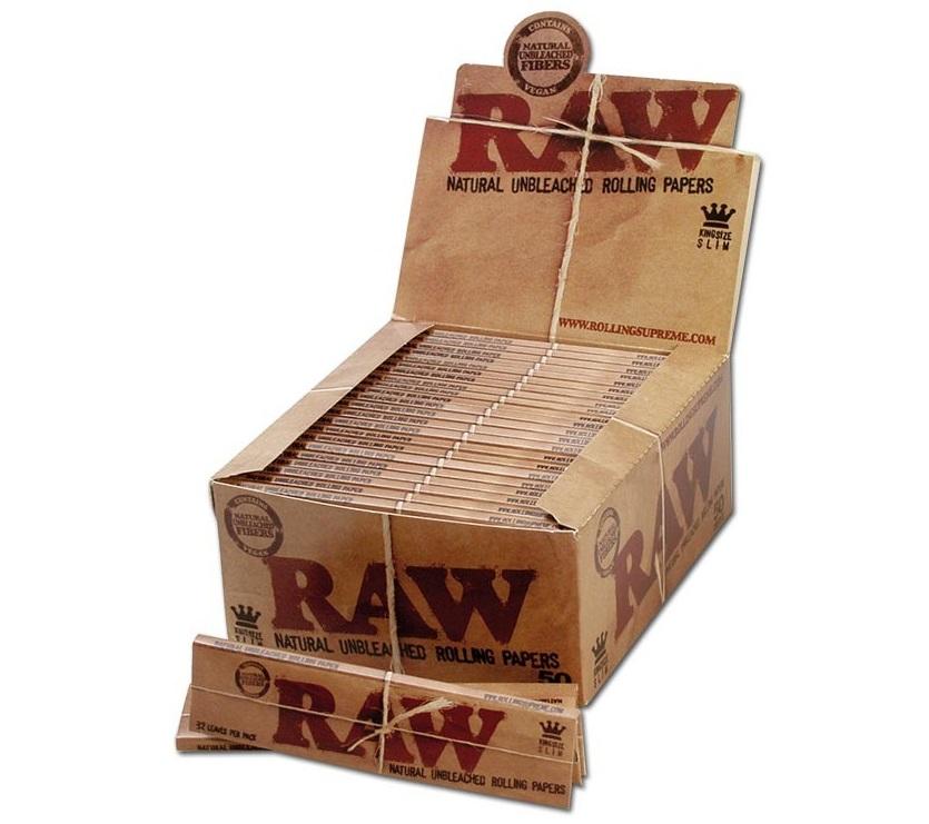 king size papírky raw