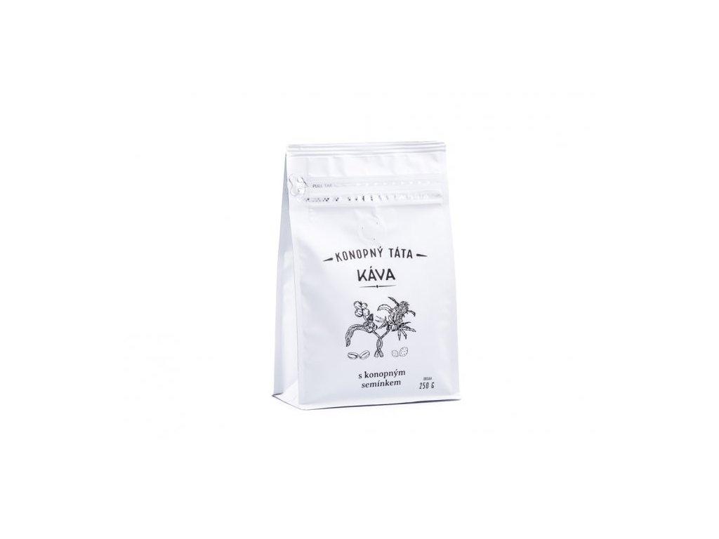 mleta kava s konopnym seminkem