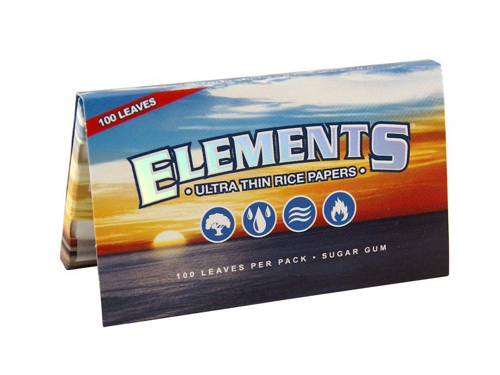 2983 elements single width ryzove cigaretove papir 100 papirku