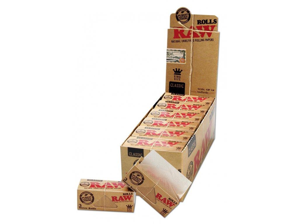 RAW rolls papirky