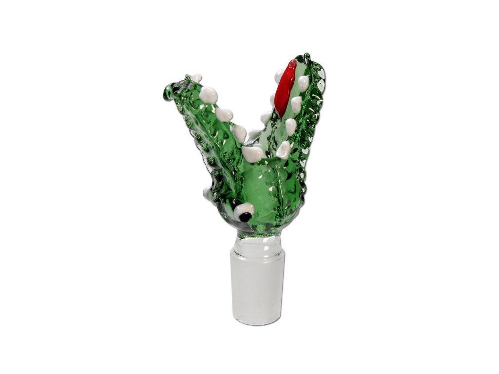 5466 skleneny kotlik crocodile green 14 5mm