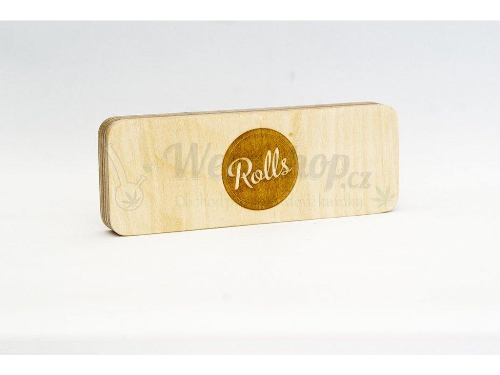 rolls obal na papirky dreveny