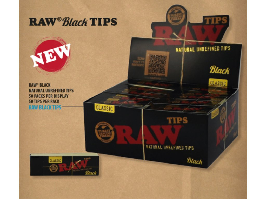 raw black tips filtry