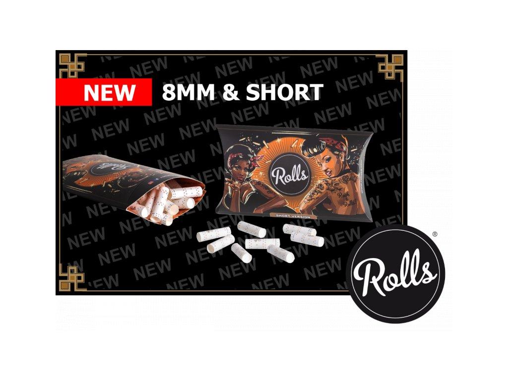 rolls filtry short 8mm