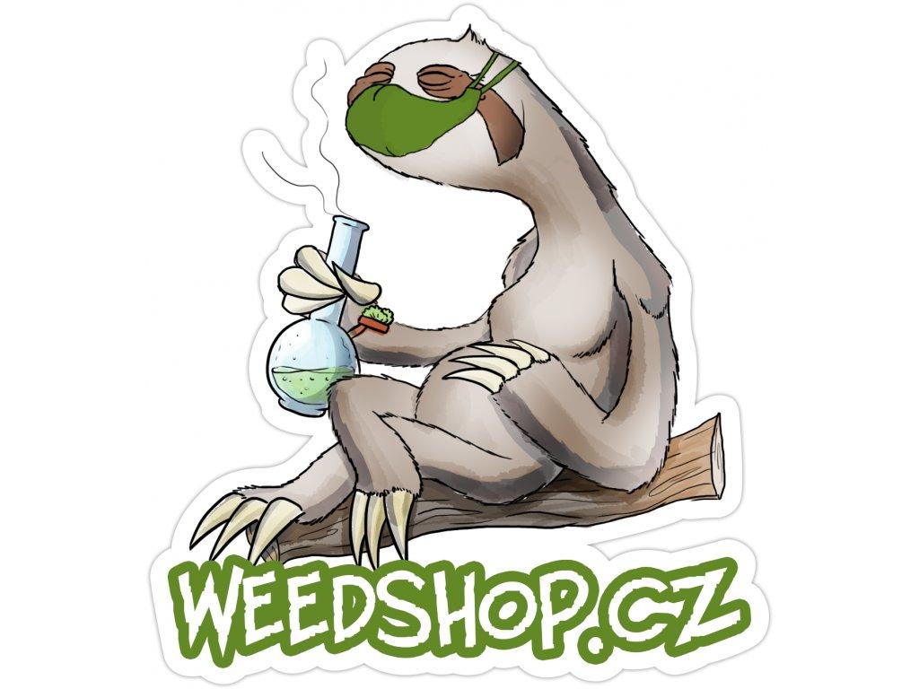 samolepka weedshop rouska