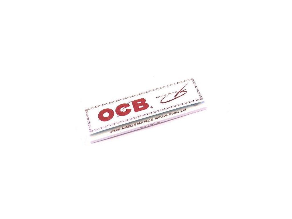 ocb papirky kingsize white