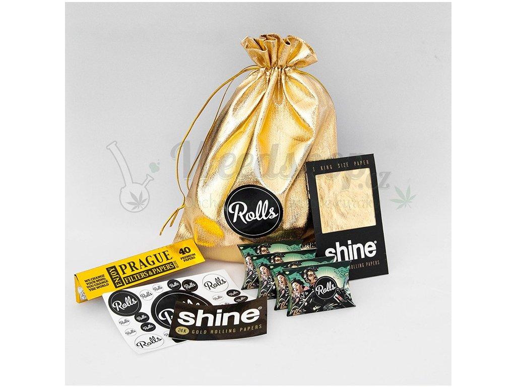 kuracke potreby shinebox zlato darkovy set