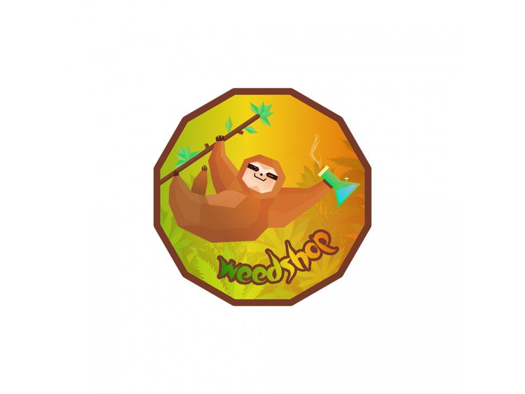 samolepka lenochod opice