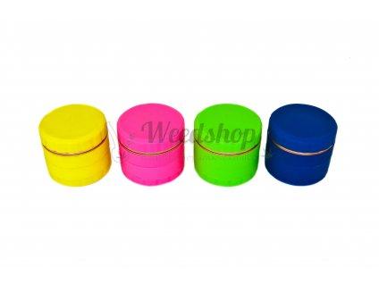 Čtyřdílná silikonová drtička v různých barvách