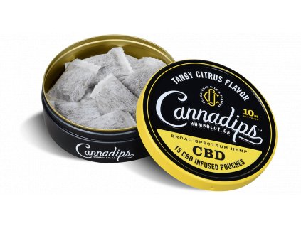 Cannadips Citrus Tin Open