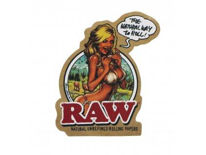 raw girl divka samolepky