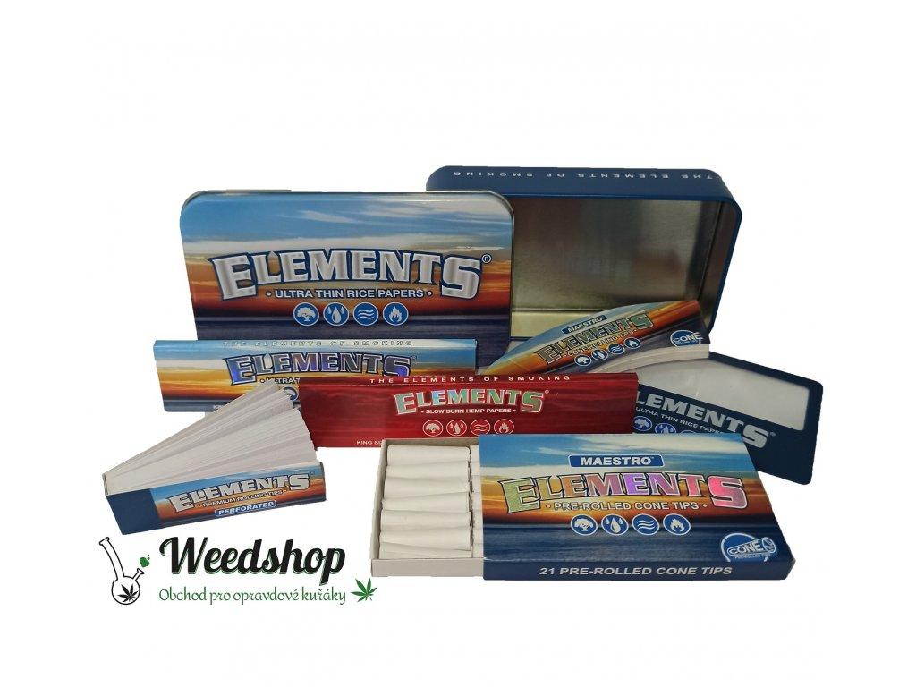 Elements starter box darkove baleni out
