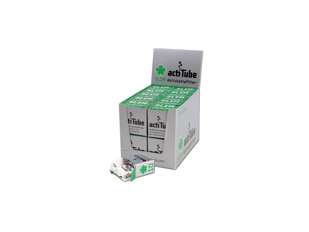 3625 actitube slim filtry s aktivnim uhlim 10 ks