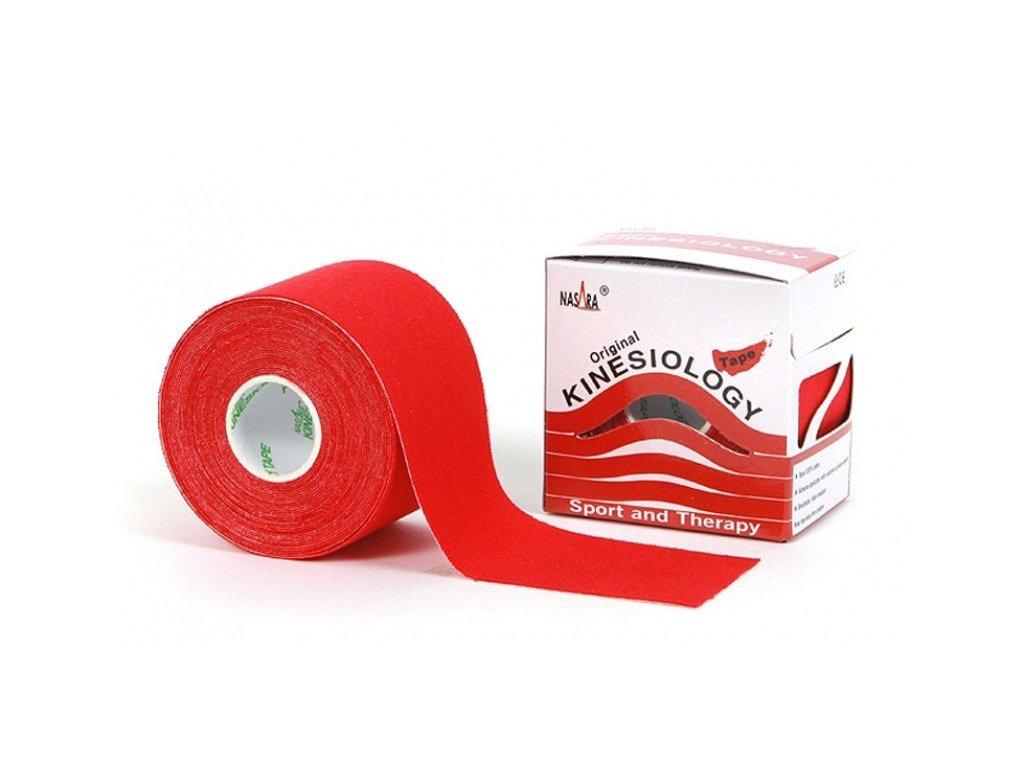 NASARA kinesio tape, červená tejpovací páska 5cm x 5m