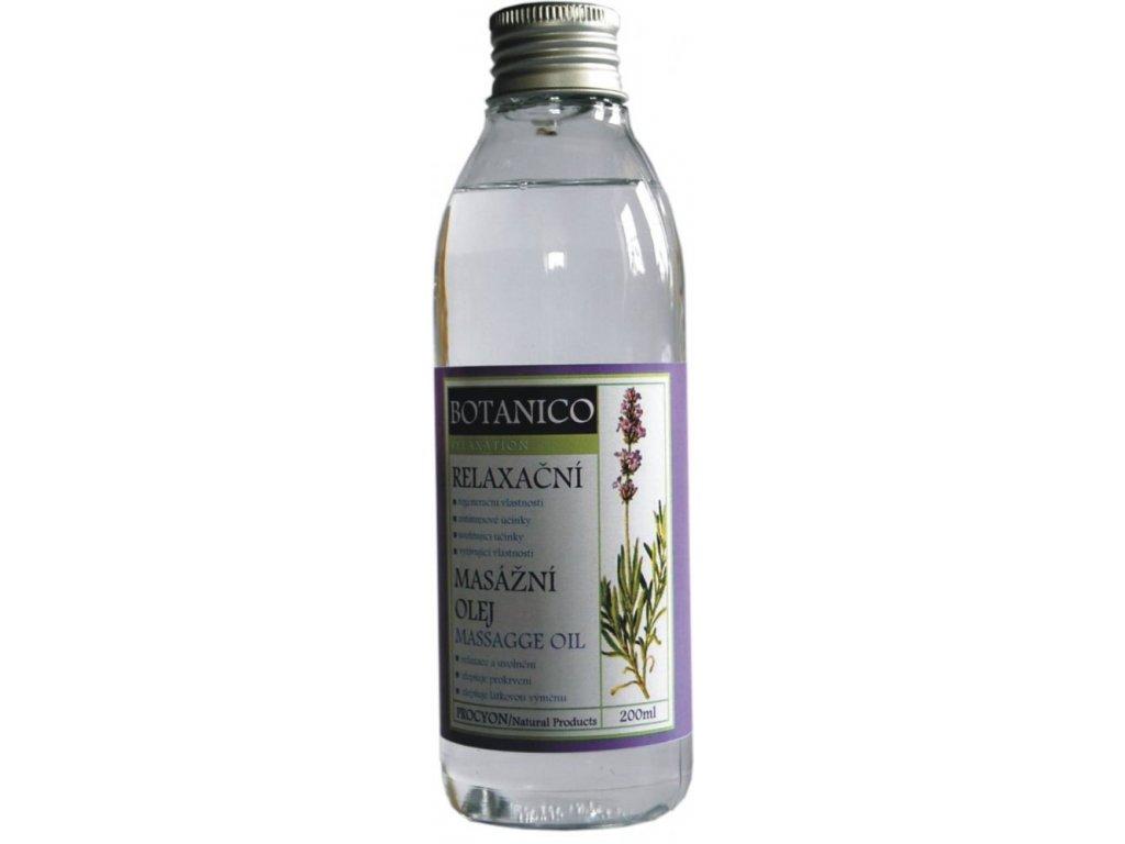 Botanico konopný masážní olej s levandulí - 200 ml