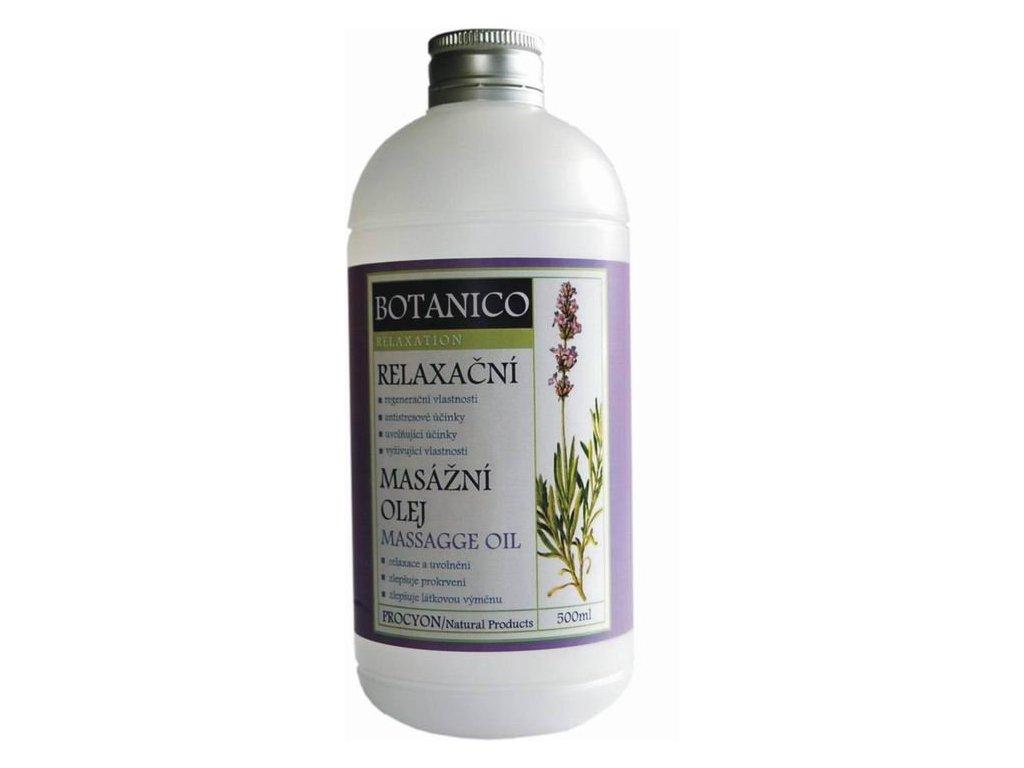 Botanico konopný masážní olej s levandulí - 500 ml