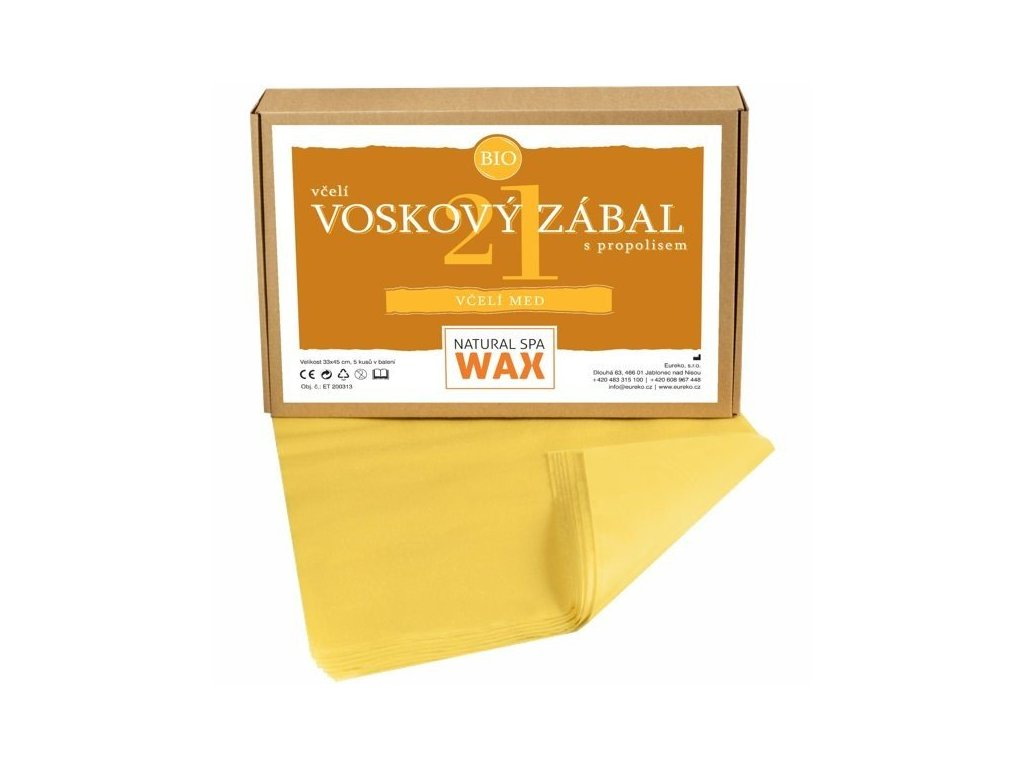 Přírodní voskový zábal - Včelí med, 20ks