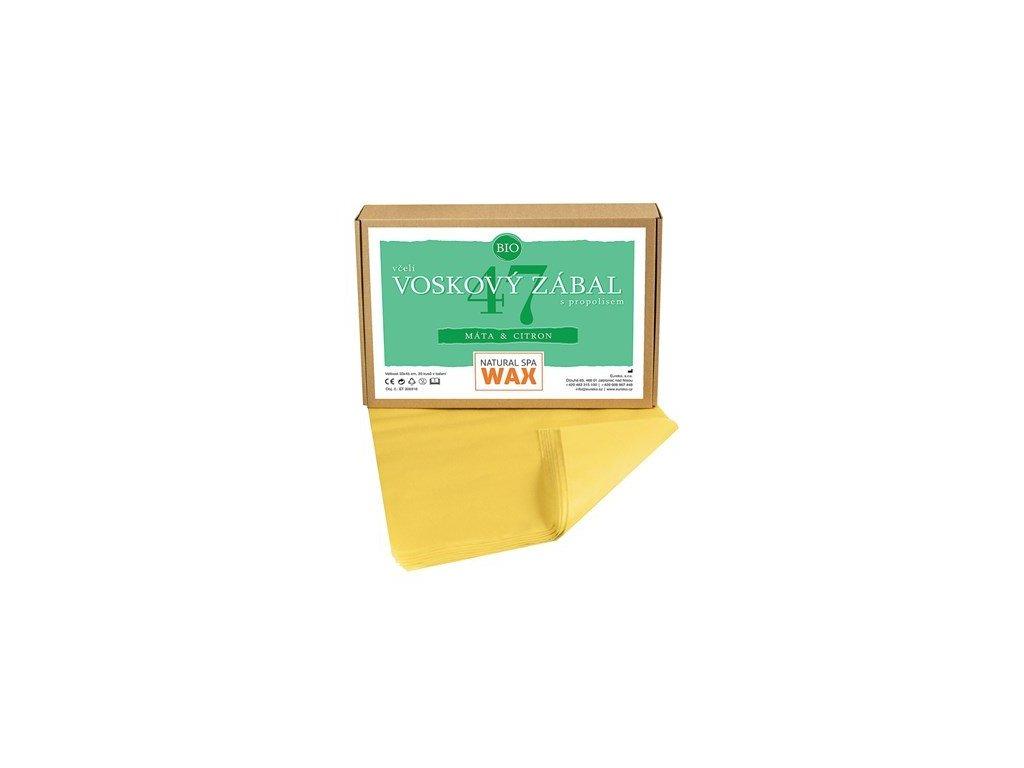 Prírodní voskový zábal - Máta - Citron, 20ks