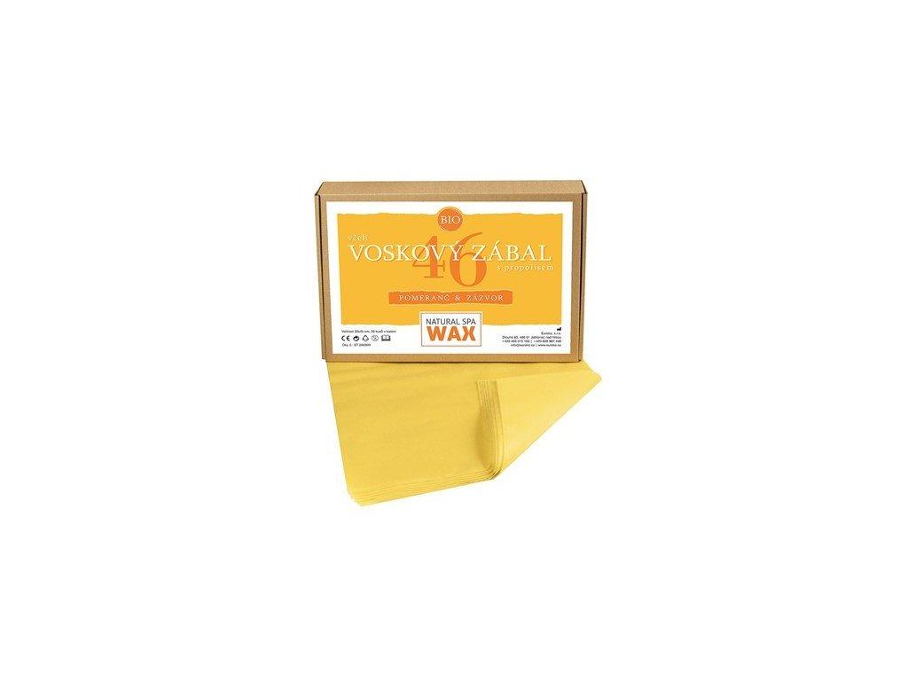 Přírodní voskový zábal - Pomeranč - Zázvor, 20ks