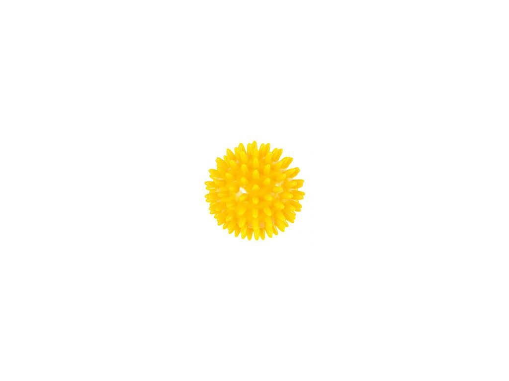 THERA-BAND masážní míček ježek, 8 cm, žlutý
