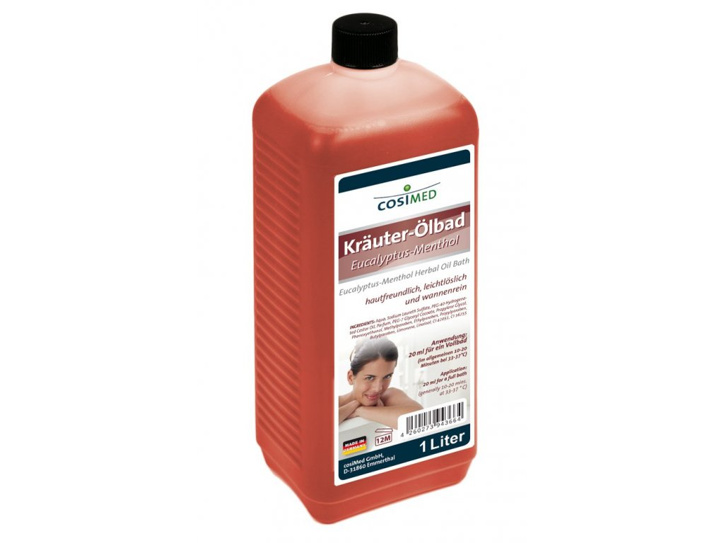 cosiMed koupelový olej Eukalyptus a Mentol - 1000 ml