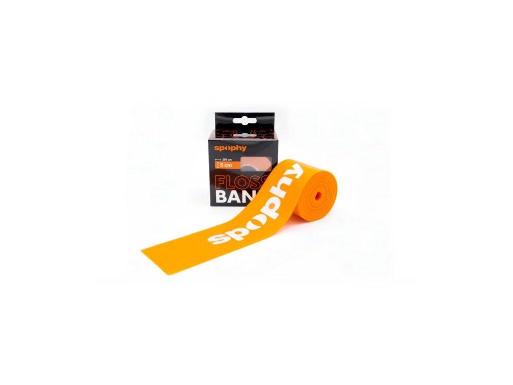 Spophy Flossband Orange, flossband oranžový, 5 cm x 2 m