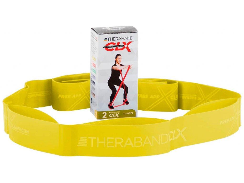 CLX Thera-Band - posilovací guma, žlutá