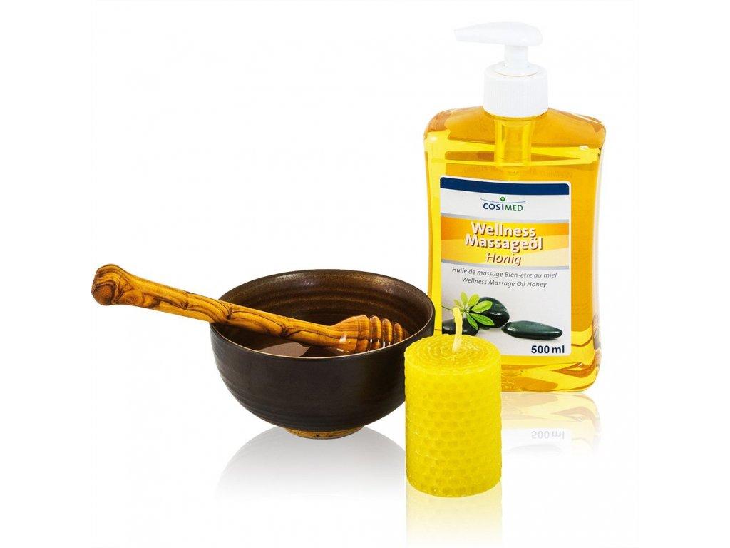 cosiMed wellness masážní olej Med - 500 ml