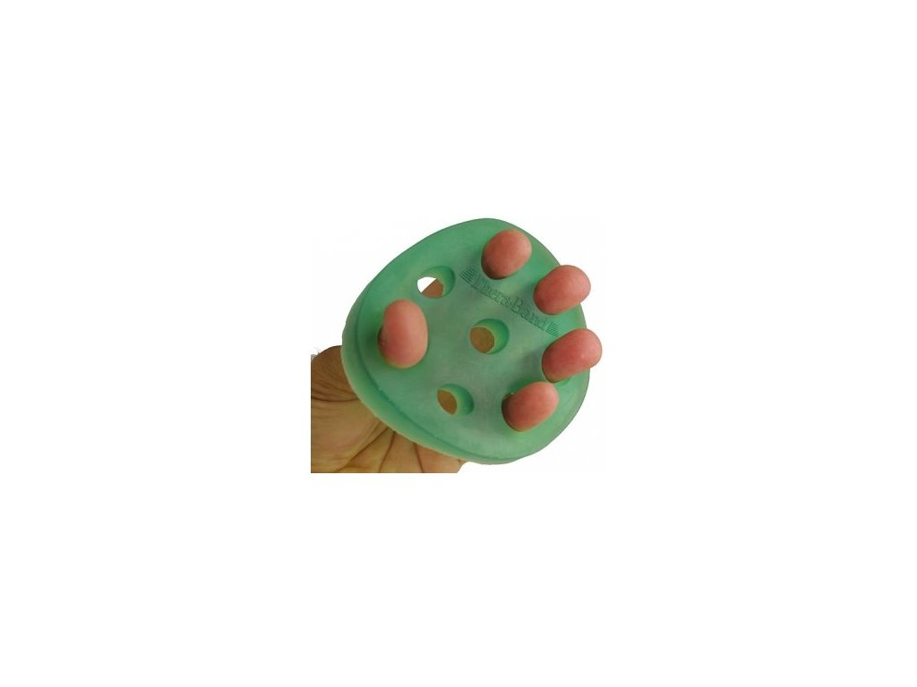 THERA-BAND Hand Xtrainer - posilovač prstů a dlaně, zelený – středně měkký