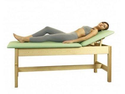 Wellness dřevěné lehátko s pevnou výškou L-1