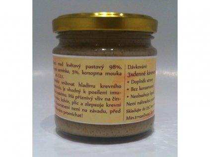 Květový med pastovaný s konopným semínkem 75 g