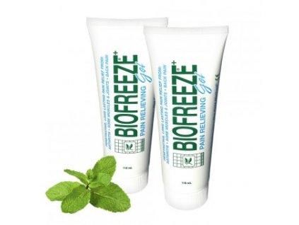 BIOFREEZE Gel - Chladivý gel proti bolesti zad, svalů a kloubů 118ml - 2KS