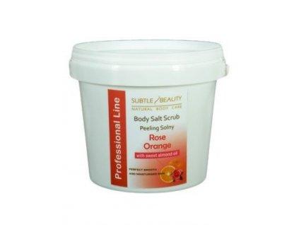 Peelingová sůl Pomeranč-Růže, 1kg
