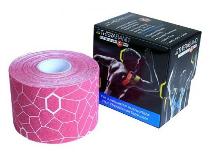 TheraBand™ Kinesiology Tape, růžová 5cm x 5m