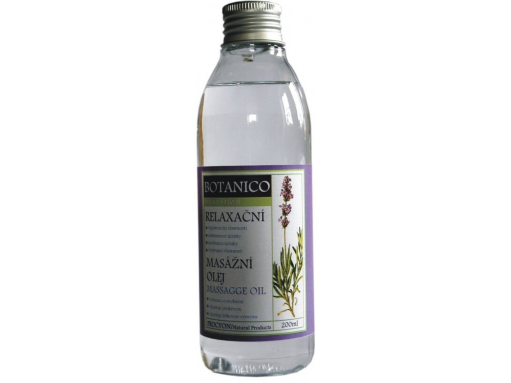 Botanico konopný masážny olej s levanduľou - 200 ml