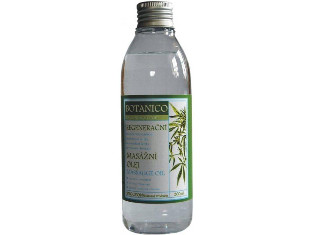 Botanico konopný masážny olej so soľou z Mŕtveho mora - 200 ml