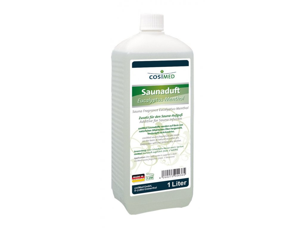 cosiMed esencia do sauny Eukalyptus a Mentol - 1000 ml